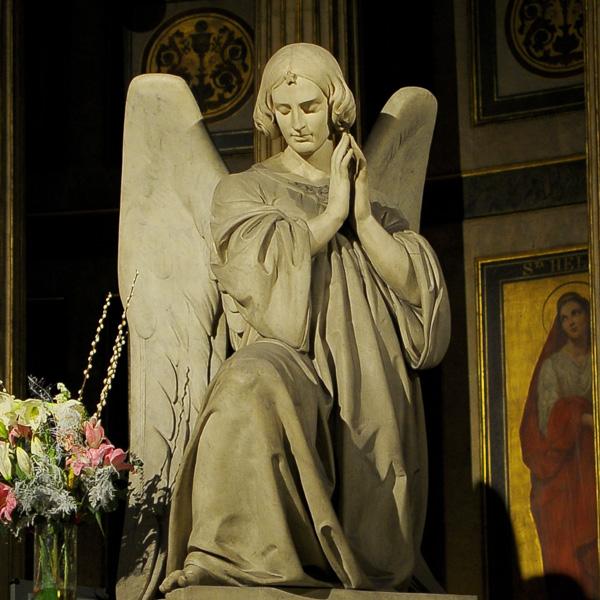 Ravissement de la Vierge. Ange. Carlo Marochetti.