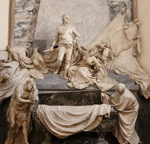 Monument du duc de Saxe. Jean Baptiste Pigalle.