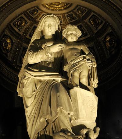 La Vierge et l'Enfant. Charles Emile Seurre.