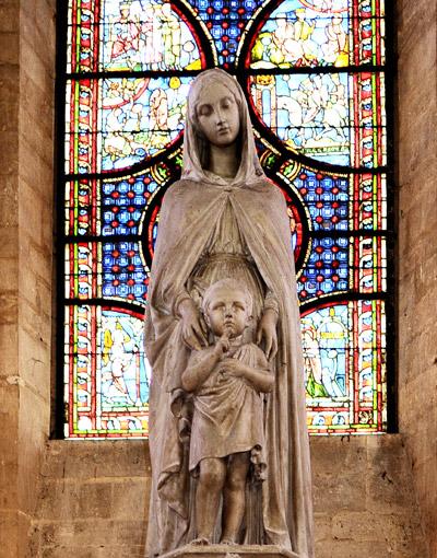 La Vierge et l'Enfant. Pierre Charles Simart.