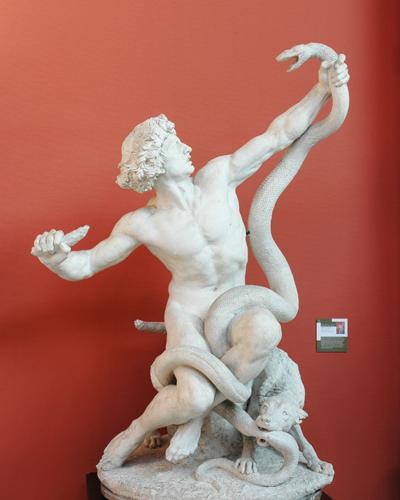L'Homme et le serpent. Gabriel Thomas.