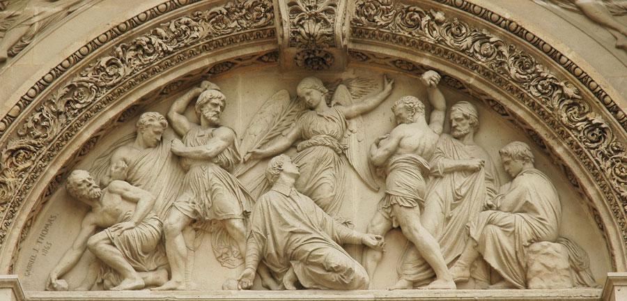 La Lapidation de Saint Etienne. Gabriel Thomas