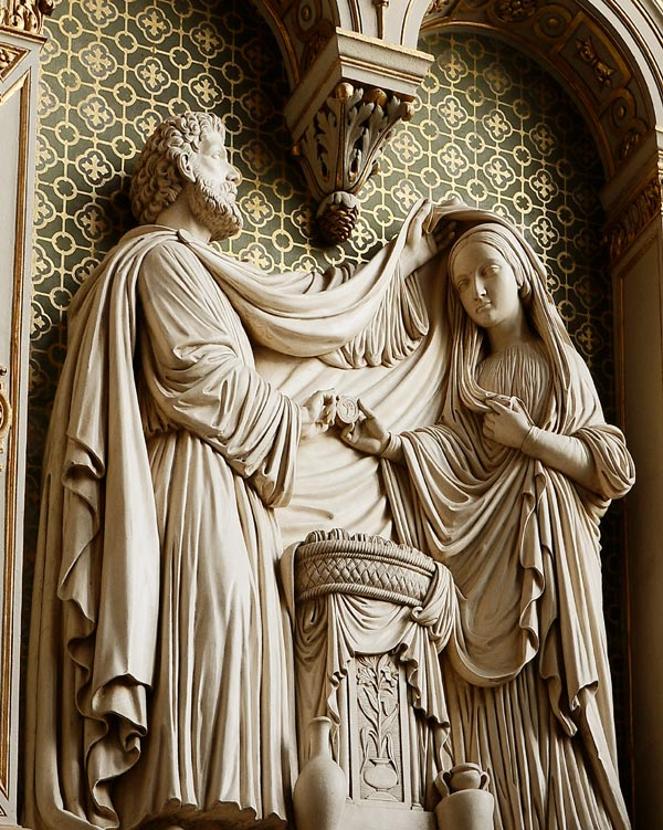 Le Mariage de la Vierge.  Henri de Triqueti
