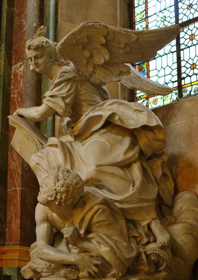 L'Ange de la Religion fouettant l'Idolâtrie. Jean Joseph Vinache.