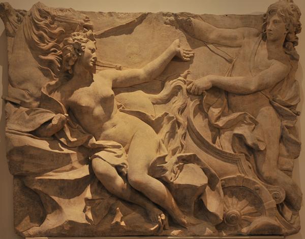 Apollon et Daphné métamorphosée en laurier. Nicolas Sébastien Adma