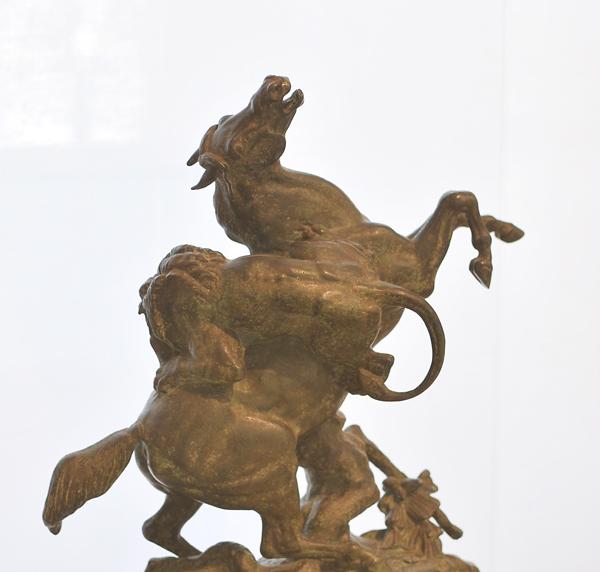 Cheval et lion. Antoine Barye.