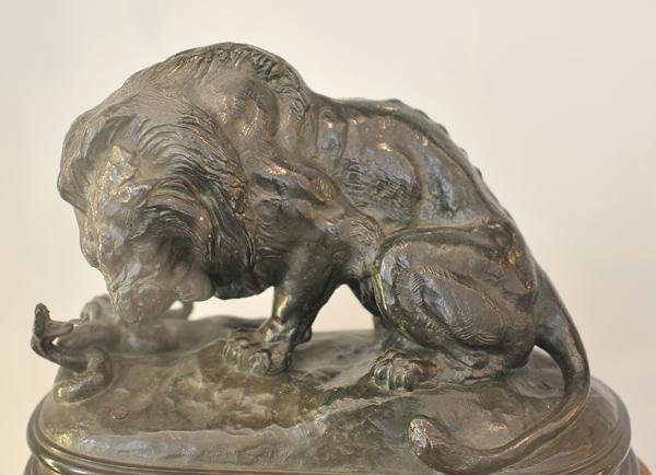 Lion au seprnt. Antoine Barye