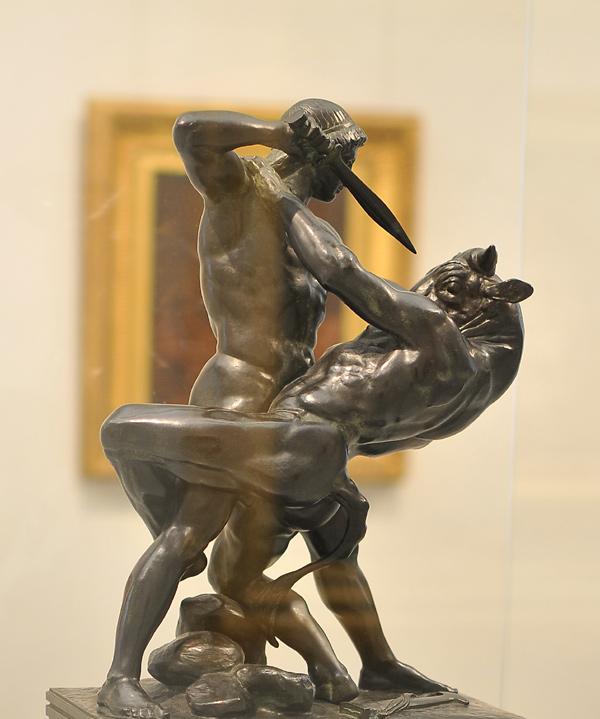 Thésée combattant le Minotaure. Antoine Barye
