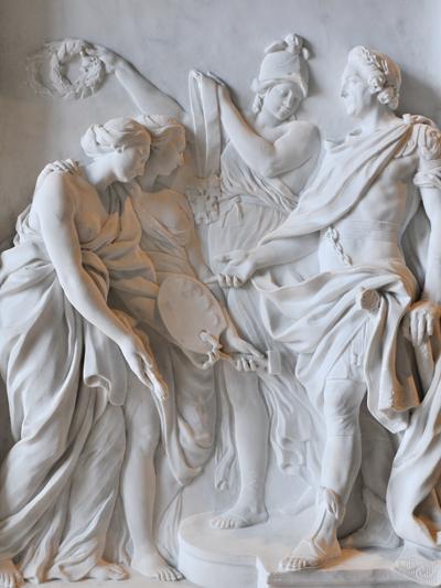 Louis XV récompense la Peinture et la Sculpture. Pierre François Berruer.