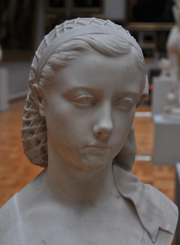 Buste de Jeune Femme. Jules Blanchard.