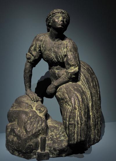 Femme sculpteur au repos. Antoine Bourdelle.