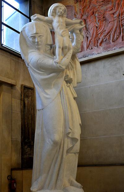 Vierge et l'offrande. Antoine Bourdelle.