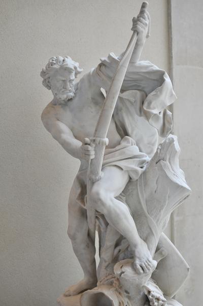 Soldat bandant son arc. Jacques Bousseau.