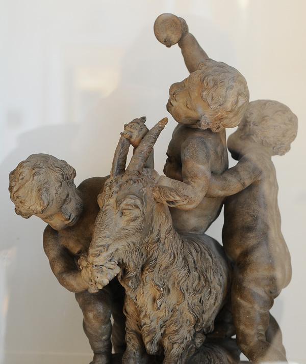 Les Enfants à la chèvre.Charles Antoine Bridan