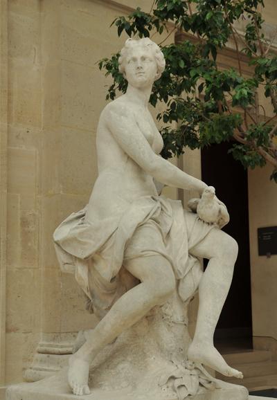 Nymphe à la colombe. Nicolas Coustou