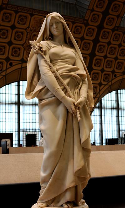 La Vierge au lys. Eugène Delaplanche.