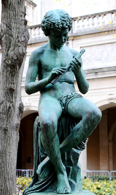 Le Joueur de flûte. Jean André Delorme