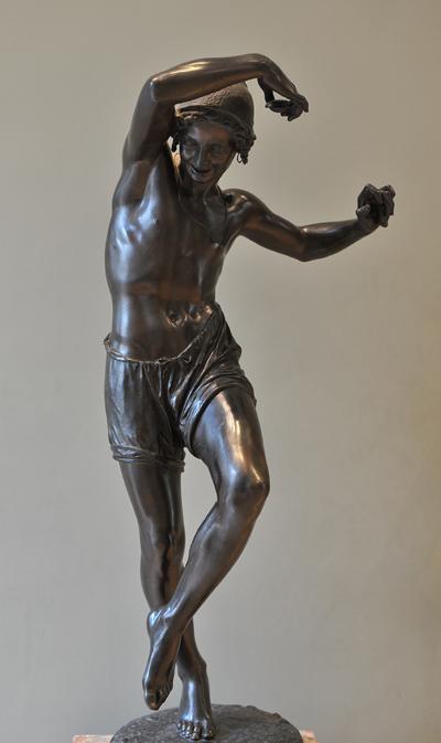 Le Pecheur dansant la tarentelle. Francisque Duret.