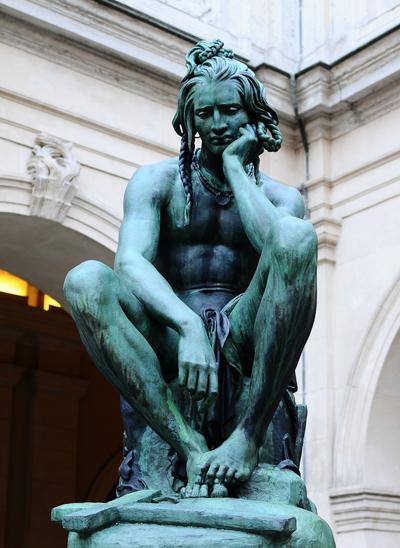 Chactas méditant sur le corps d'Atala. Francisque Joseph Duret.