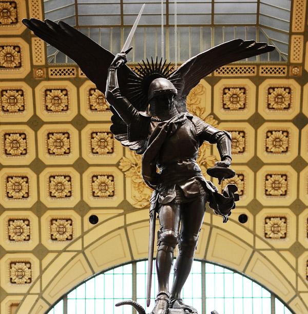 Saint Michel et le Dragon. Emmanuel Frémiet.