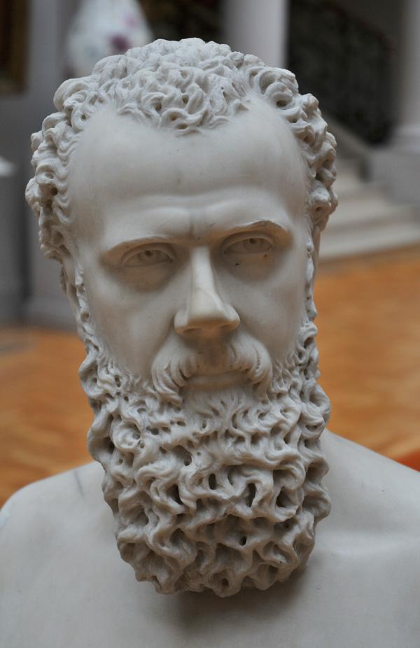 Buste d'homme barbu. Eugène Guerlain