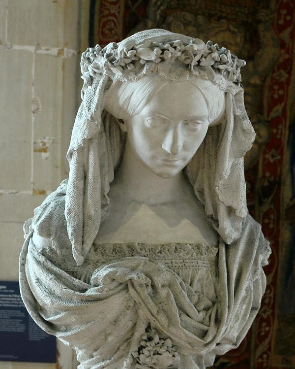 Femme couronnée de fleurs. Alfred Jean Baptiste Halou.