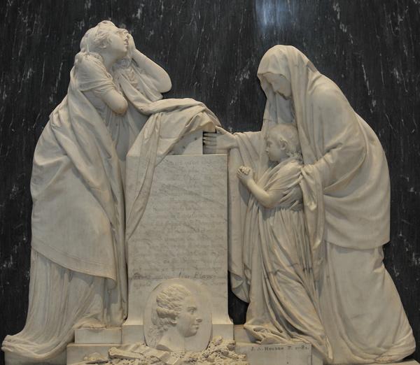 Monument du coeur du comte d'Ennery. Jean Antoine Houdon.