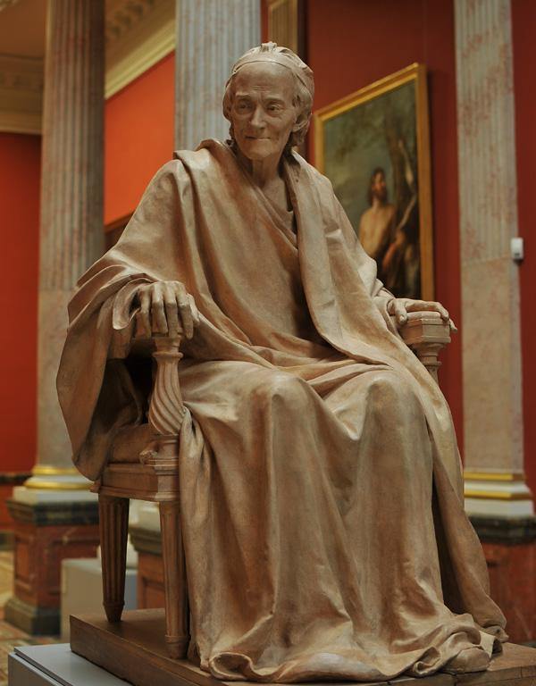 Voltaire assis. Jean Antoine Houdon.