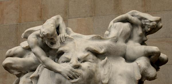 Nymphe et Satyre. Antoine Injalbert