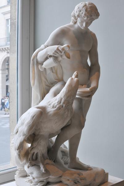 Ganymède versant le nectar à Jupiter changé en aigle. Pierre Julien
