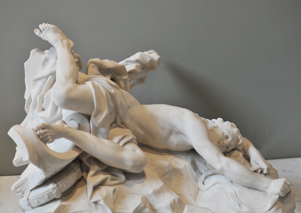 La Mort d'Hippolyte. Jean Baptiste 1er Lemoyne.