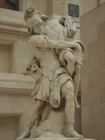 Enée portant son père Anchise. Pierre Lepautre.