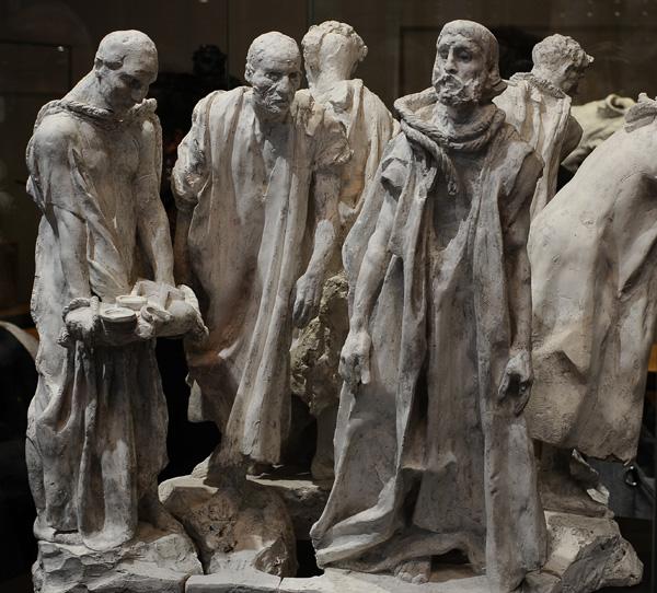Les Bourgeois de Calais. Maquette. Auguste Rodin.