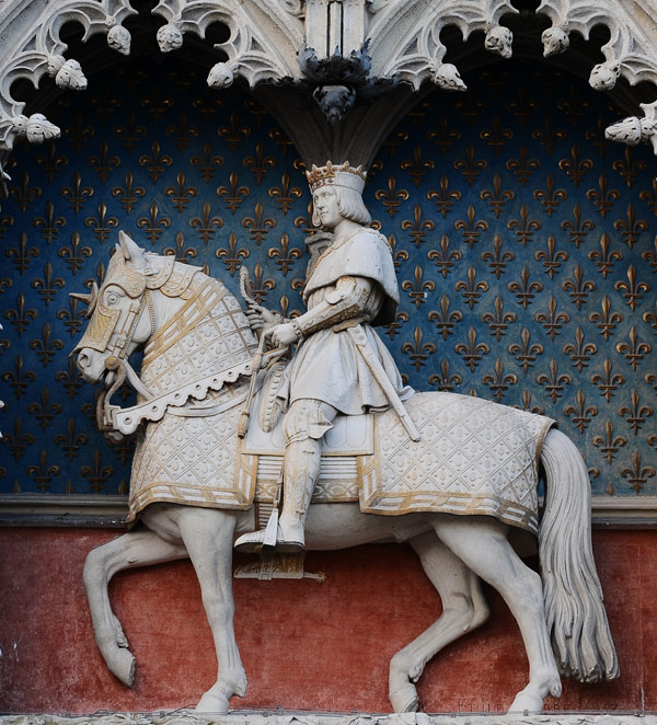 Louis XII à cheval. Charles Emile Seurre.