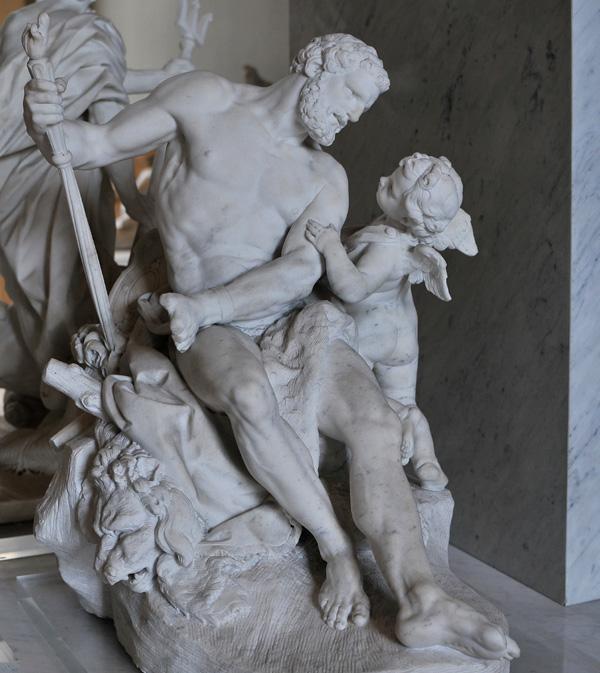 Hercule enchaîné par l'Amour. Jean Joseph Vinache.