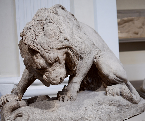 Lion et serpent. Antoine Barye.