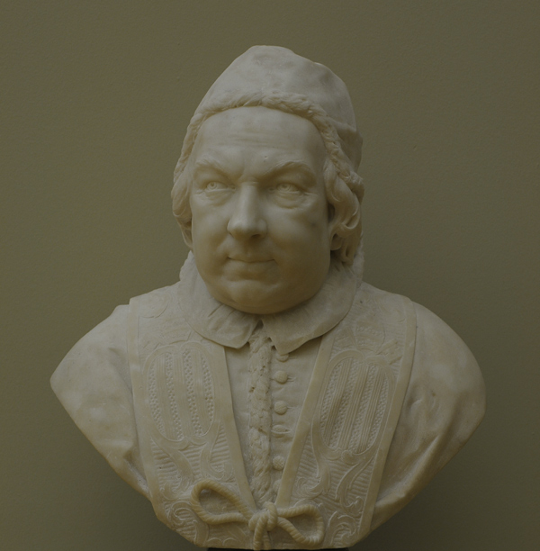 Le Pape Benoît XIV. Pietro Bracci.