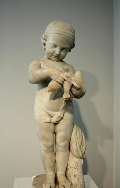 L'Enfant à l'oiseau. Pierre Charles Bridan.