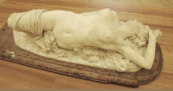Bacchante couchée. Auguste Clésinger.