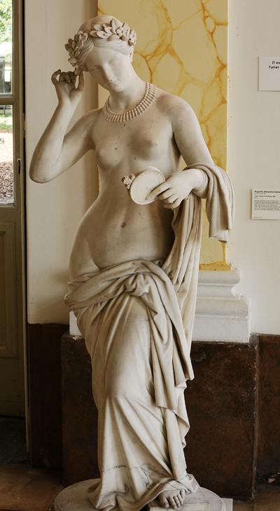 Jeune romaine à la toilette. Augustin Dumont.