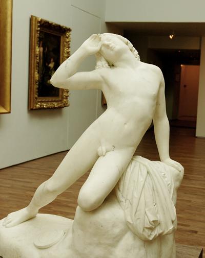 Hyacinthe renversé et tué par le palet d'Apollon. Antoine Etex.