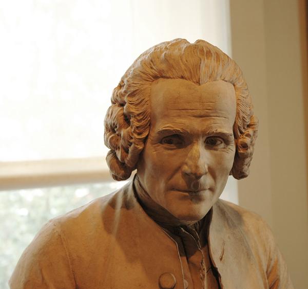 Jean Jacques Rousseau. Jean Antoine Houdon.