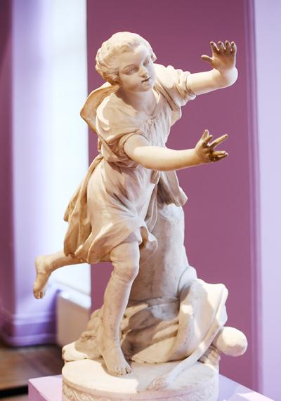 Un Enfant courant. Jean Baptiste d'Huez.