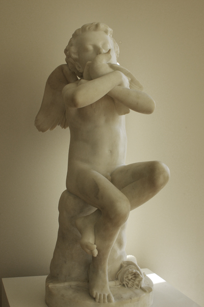 L'Amour embrassant une colombe. Hubert Lavigne.