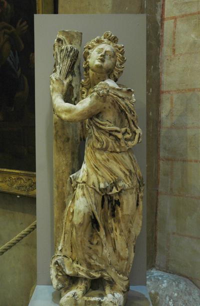 Ange tenant les instruments de la Passion. Arthur Legoust.