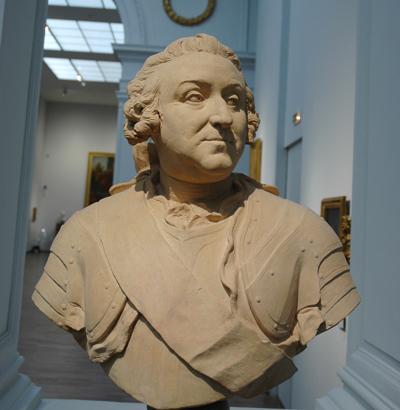 Le comte de Löwendal. Jean Baptiste Lemoyne II.