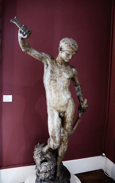 David vainqueur.  Antonin Mercié.
