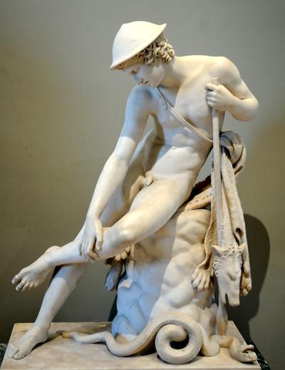 Jeune chasseur blessé par un Serpent. Louis Messidor Petitot