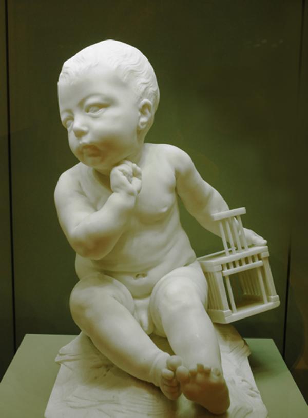 L'Enfant à la cage. Jean Baptiste Pigalle.