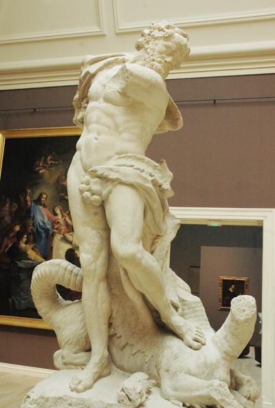 Hercule terrassant l'hydre de Lerne. Pierre Puget.
